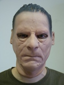 One of the latex masks used in the experiment (alias: EV camouflaged)