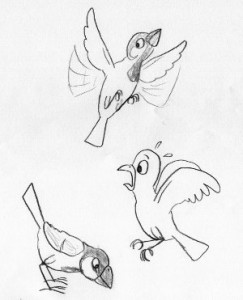 Urban house sparrows flee from humans from shorter distances. Drawing: Ernő Vincze